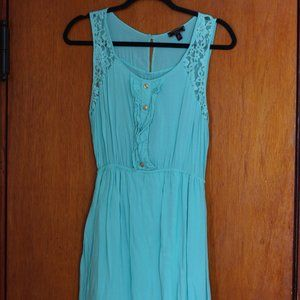 Light Blue Hi-Lo Dress
